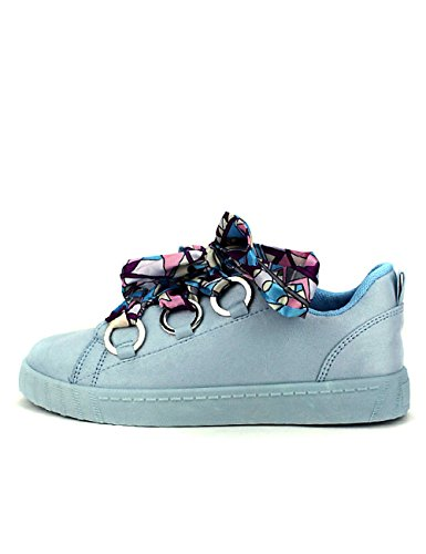 Cendriyon Sneakers Bleues Lacets Coco Lo Chaussures Femme Bleu