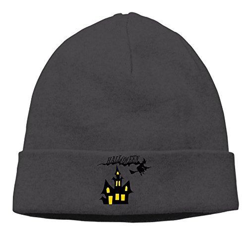 DETO Men's&Women's Halloween Patch Beanie TourBlack Hat
