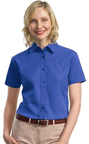 Port Authority Women's Comfortable Short Sleeve Twill Shirt (Womens Short Sleeve Twill Shirt)