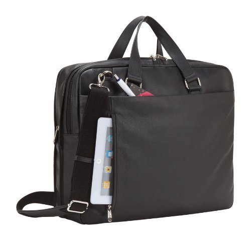 Bellino G6254 Executive Leather Expandable Business Zip Laptop Tablet Brief Case