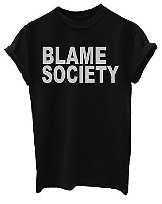 Blame Society Funny Mens T-Shirt [Apparel]