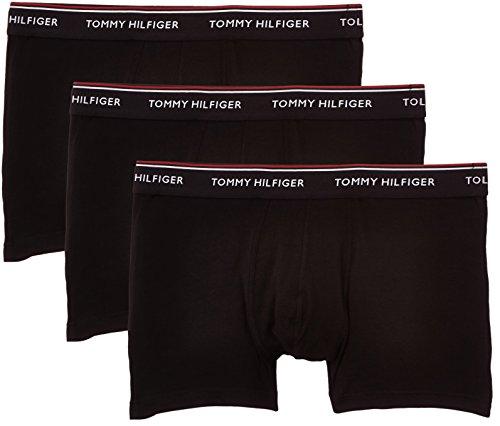 Tommy Hilfiger Herren Boxershorts Stretch trunk premium ess, 3er Pack, Einfarbig, Gr. XX-Large, Schwarz (BLACK 990)
