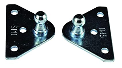 JR Products BR-1020 10mm Flat Gas Spring Mounting Bracket Pair (Quantity 5)