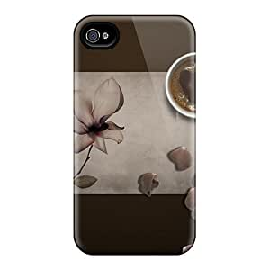 Awesome Coffee Break Flip Case With Fashion Design For Iphone 4/4s