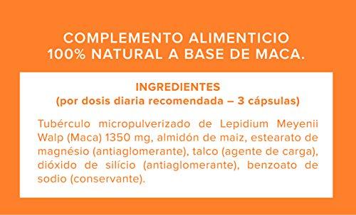 Maca. 100% Maca andina 60 capsulas 500mg. Pura y sin excipientes: Amazon.es: Salud y cuidado personal