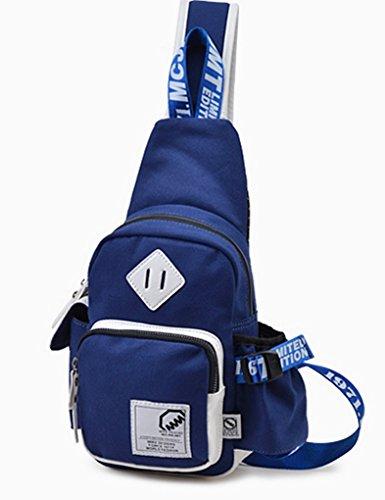 Panegy Fashion Sports Unisex Brusttasche Sporttasche Bauchtasche Schultertasche Umhängetasche Crossbody Tasche Schultasche - Blau