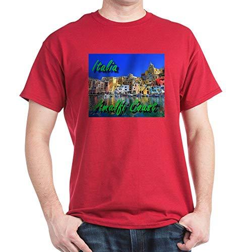 (CafePress Beautiful Amalfi Coast T Shirt 100% Cotton T-Shirt Cardinal )