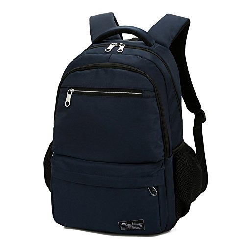 Mynos Unisex Oxford Water Casual Travel Backpack 17-Inch Laptop and Notebook School Rucksack (Blue) - Proof Classic Oxford