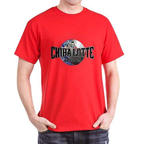 CafePress Chiba Lotte Marines Dark T Shirt 100% Cotton T-Shirt Red