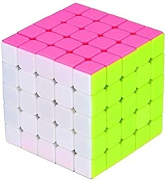 Akrobo Fast Ultra Smooth Twisting 5x5 Stickerless Rubik Cube (1 Pieces)