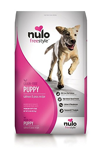 Nulo Puppy Food Grain Free Dry Kibble with BC30 Probiotic and DHA (Salmon and Peas Recipe, 24lb Bag)