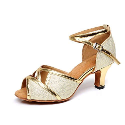 CXS Ladies Open toe Party Wedding Heels Ballroom Dance Shoes for Salsa Tango and Practice, 2.4 Heel