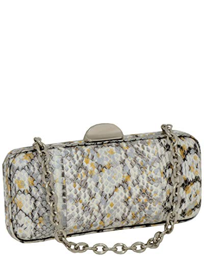 Bag Christopher Inge Evening (Inge Christopher Pam Splatter Paint Snakeskin Minaudere Evening Bag, Gold/Multi, One Size)