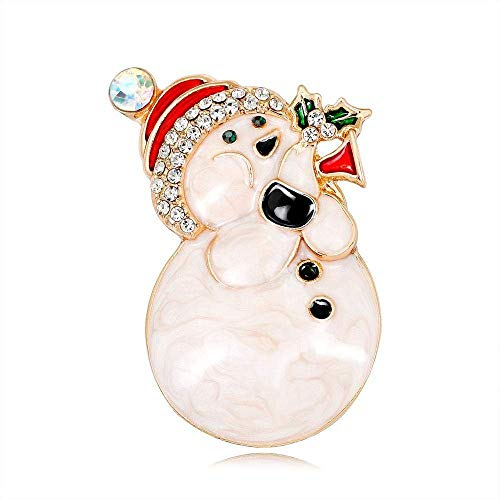 - Creative Brooch Pin Brooch Popular European fashion Christmas Snowman brooch alloy drip oil drilling cartoon brooch 2-piece set Badge Pin Lapel Pin