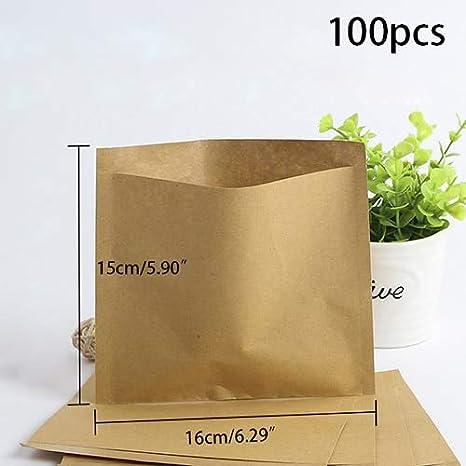Amazon.com: Sandwich - Paquete de 100 bolsas de papel marrón ...