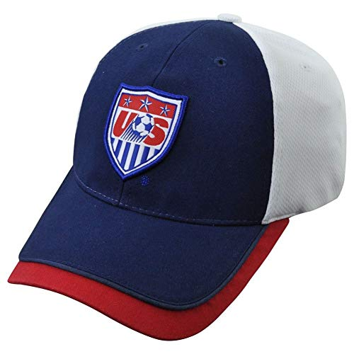 (World Cup Soccer Team USA ADULT FASHION CAP / HAT Navy Blue/White)