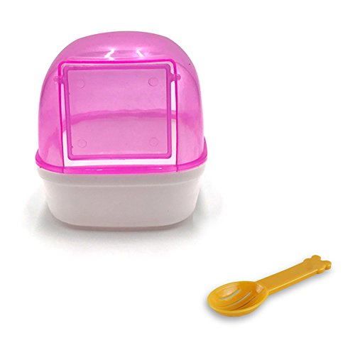 Wildgirl Small Pet Plastic Bathroom Hamster Bath Sand Room Sauna Bathtub (Pink+shovel)