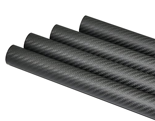 Abester 100% Carbon Fiber Tube ID 22mm x OD 25mm x 1000mm 3K Matt Surface for RC Plane (1 piece)