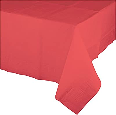 "Creative Converting 723146B Touch of Color Plastic Table Cover, 54 by 108"", Coral from Creative Converting"
