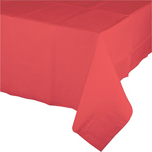 Creative Converting 713146 Touch of Color Tissue Table Cover with Poly Backing, 54 by 108