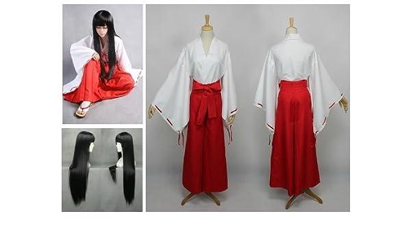 Inuyasha Kikyo Cosplay traje kimono+ Kikyou 80cm peluca ...