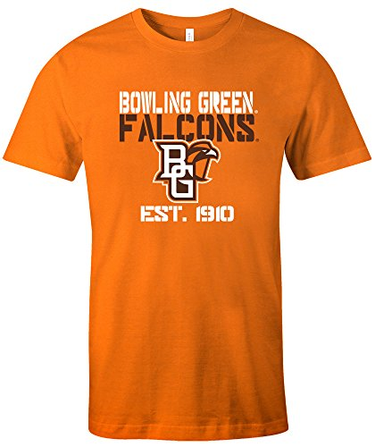 NCAA Bowling Green Falcons Est Stack Jersey Short Sleeve T-Shirt, (Bowling Green University Basketball)
