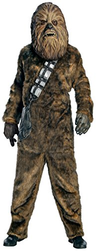 Star Wars Chewbacca Deluxe Faux Fur Full Mask Costume, Brown, X-Large