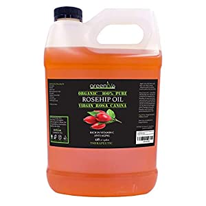 GreenIVe - Rosehip Oil - Rosa Canina - 100% Pure - Cold Pressed - Virgin - Exclusively on Amazon (128 Ounce (1 Gallon)) 137