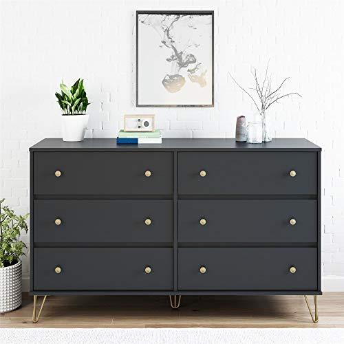 (Novogratz Owen 6 Drawer Dresser, Black)