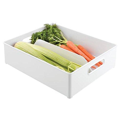 Caja organizadora de plástico en color blanco con dos ...