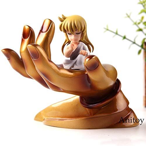 11cm (4.3 inch) Saint Seiya Anime Shaka Virgo with Buddha Hand Platform PVC Action Figure
