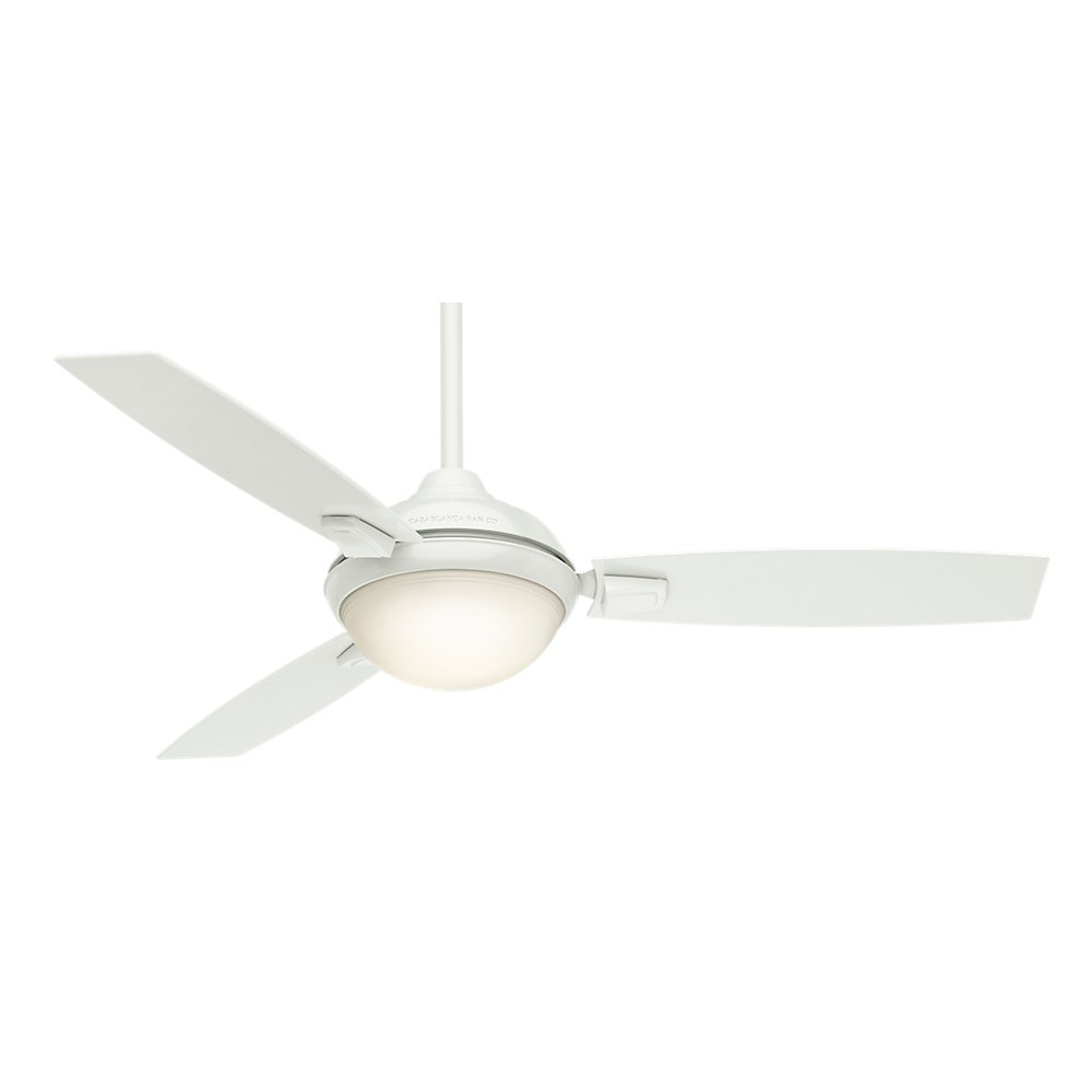 Casablanca Indoor Outdoor Ceiling Fan with LED Light and remote control – Verse 54 inch, White, 59158