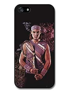 Rafa Nadal Flowers Portrait Tennis Player case for iPhone 5 5S