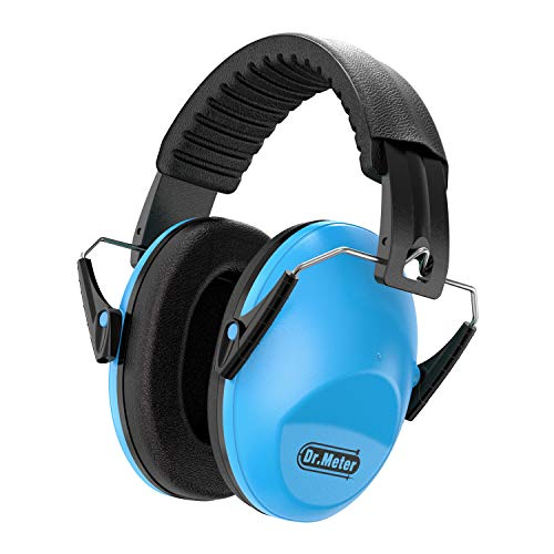 Dr.meter Kids Ear Protection, Noise Blocking Children Ear Muffs with Adjustable Head Band, Babies 27NRR Kids Protective earmuffs for Sleeping Studying and Shooting-Blue