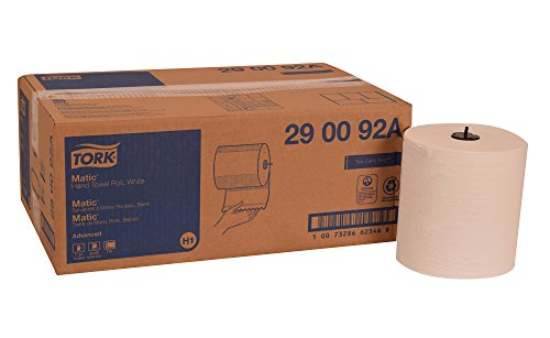 Tork 290092A Advanced Matic Paper Hand Towel Roll, 2-Ply, 7.7'' Width x 525' Length, White, (Case of 6 Rolls, 525 Feet per Roll, 3,150 Feet) by Tork