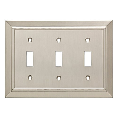 Franklin Brass W35225-SN-C Classic Architecture Triple Toggle Switch Wall Plate/Switch Plate/Cover, Satin Nickel ()