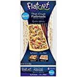 Flatout Thin Crust Flatbreads Artisan Pizza 10.2 Oz (Rustic White, Pack of 4)