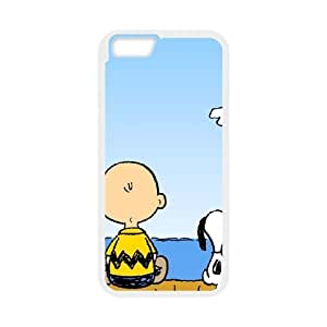 iPhone 6 4.7 Inch Cell Phone Case White Charlie Brown and Snoopy 004 Basic Cell Phone Carrying Cases LV_6041782