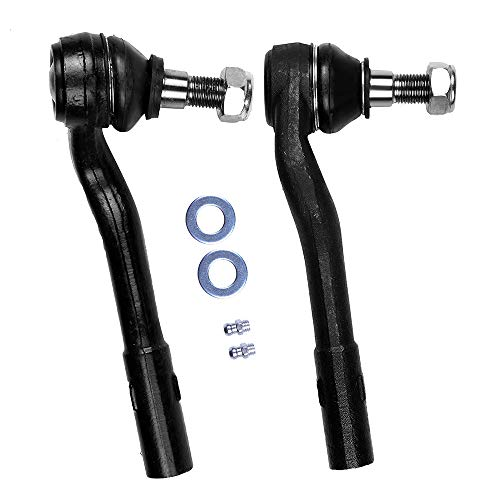 SCITOO 2pcs Suspension Kit 2 Front Outer Tie Rod End Compatible fit 02-07 Mercedes-Benz C230 09 10 Mercedes-Benz SLK300 01-05 Mercedes-Benz C320 06-09 Mercedes-Benz CLK350 04 05 Mercedes-Benz CLK320