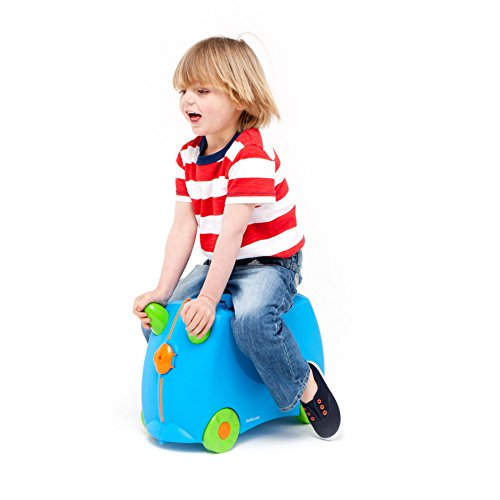 Trunki Original Kids Ride-On Suitcase and Carry-On - Terrance (Blue) by Trunki (Image #2)