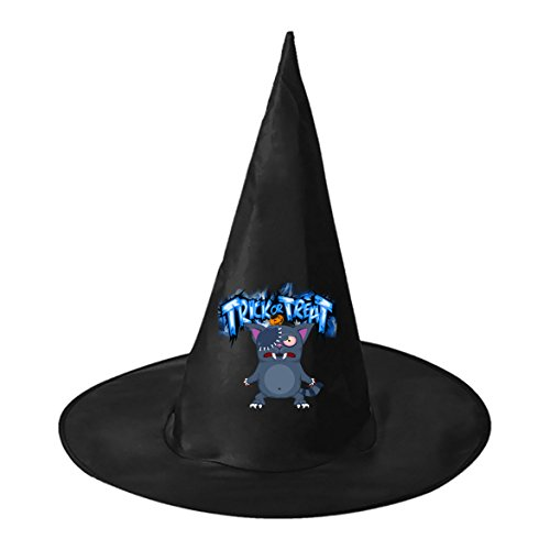 Creepy Cat Doll Conical Cosplay Witch Hat Toy to Halloween Costume Ball for Unisex Kids Adults