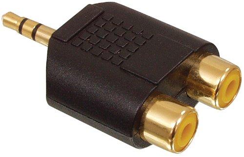 ADATTATORE DORATO STEREO DA JACK 3, 5mm. A 2xPLUG RCA FEMMINA Valueline AC-010GOLD