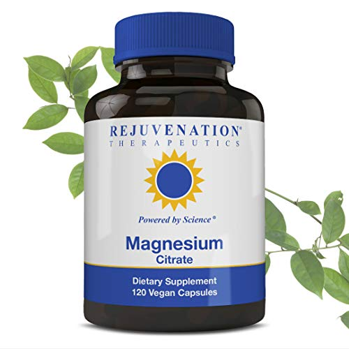 Rejuvenation Therapeutics - Magnesium Glycinate | Support Nerve and Muscle Function and Heart Health | Premium Organic and Vegan Friendly | 90 Capsules 300 mg 30 Day Supply