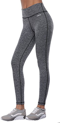 565183d67d Aenlley Womens Activewear Yoga Pants High Rise Workout Gym Spanx Tights  leggings Color BlackGrey+DarkGrey