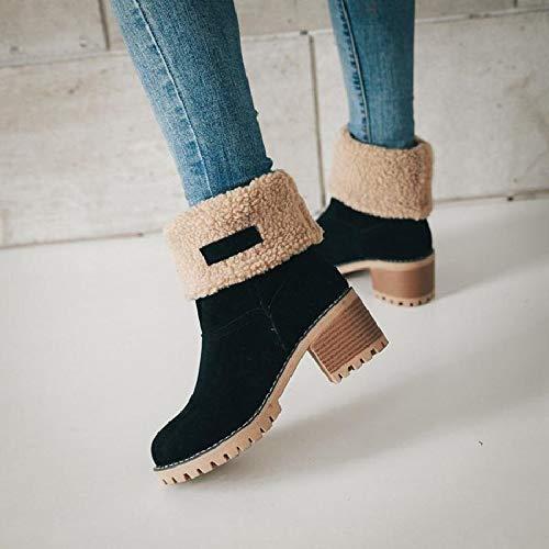 Snow 35 Mode Cm Bottes Bottines Chaussures Neoker Neige Doublure 6 43 Fourrure Hiver Kaki De Avec Femme Orange Noir Haut Courts Boots Chaud Talon 5YqwUBxZnq