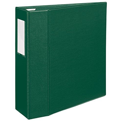 Avery Heavy-Duty Binder with 4-Inch One Touch EZD Ring, Green, 1 Binder (21011)