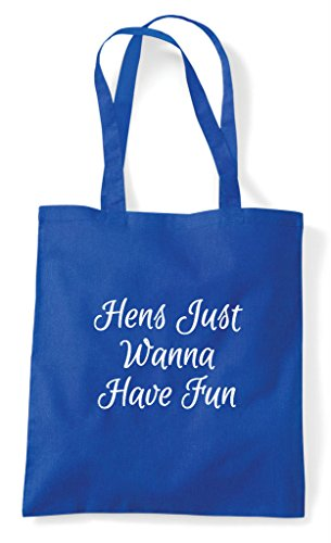 Tote Hens Fun Party Just Bag Do Shopper Royal Personalised Have Hen Customised Wanna Blue dfnzEqwTTY