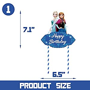 1 Cake Topper for Frozen Cake Toppers Decorations Birthday Party Supplies for Children
