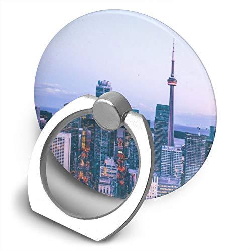 Markui Cell Phone Finger Ring Holder Toronto City 360 Degree Rotating Stand Grip Mount Phone Bracket -