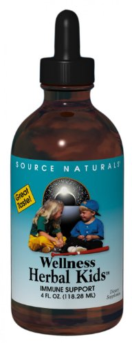 Source Naturals Wellness Herbal Kids Liquid, Immune Support for Children Ages 1-12, 4 Ounce